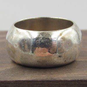 Size 5.5 Sterling Silver Rustic Simple Band Ring